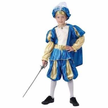 Blauw prinsen carnavalskleding jongens arnhem