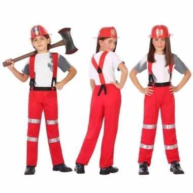 Brandweer carnavalskleding / verkleed carnavalskleding jongens meisj