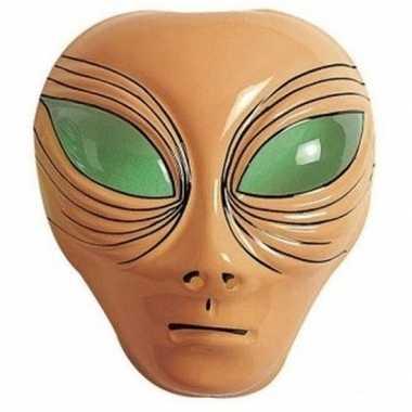 Carnavalskleding alien verkleed masker bruin volwassenen arnhem