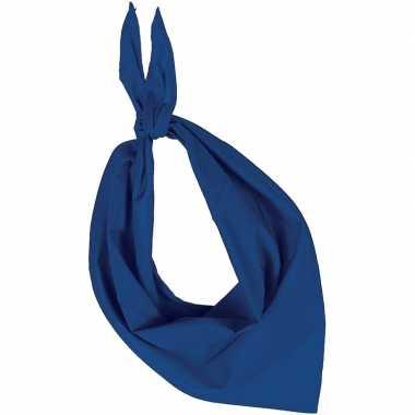 Carnavalskleding bandana/zakdoek blauw volwassenen arnhem