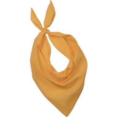 Carnavalskleding bandana/zakdoek geel volwassenen arnhem