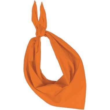 Carnavalskleding bandana/zakdoek oranje volwassenen arnhem