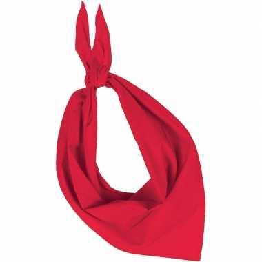 Carnavalskleding bandana/zakdoek rood volwassenen arnhem