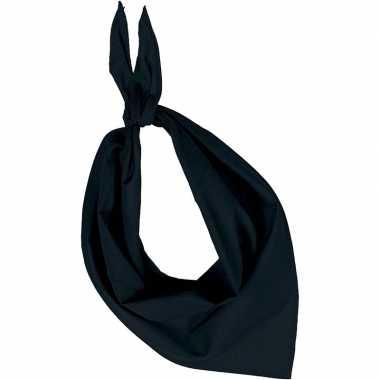 Carnavalskleding bandana/zakdoek zwart volwassenen arnhem