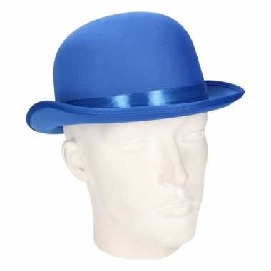 Carnavalskleding blauwe bolhoed volwassenen arnhem