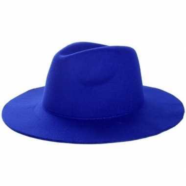 Carnavalskleding blauwe cowboyhoed volwassenen arnhem