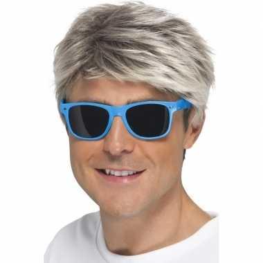 Carnavalskleding blauwe neon feestbril volwassenen arnhem