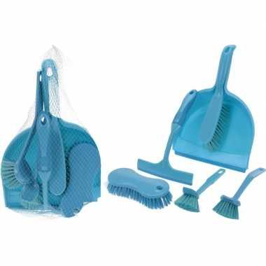 Carnavalskleding blauwe schoonmaak set arnhem