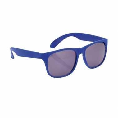 Carnavalskleding blauwe zonnebril arnhem