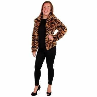 Carnavalskleding bontjas tijger print dames arnhem