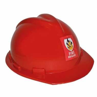 Carnavalskleding brandweerhelm verstelbaar verkleed accessoire volwas
