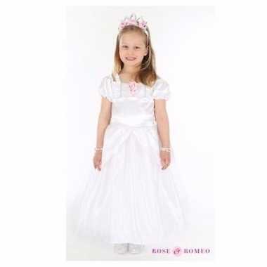 Carnavalskleding bruidmeisje jurk wit arnhem
