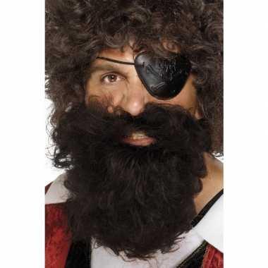 Carnavalskleding bruine piraten baard heren arnhem