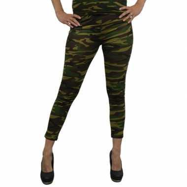 Carnavalskleding camouflage legging dames arnhem