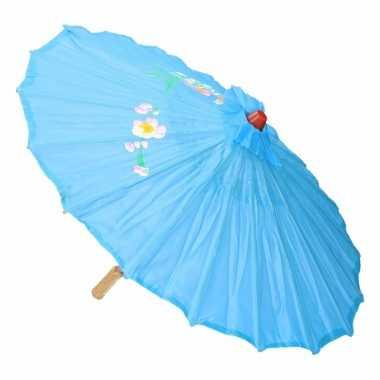 Carnavalskleding chinese paraplu lichtblauw arnhem