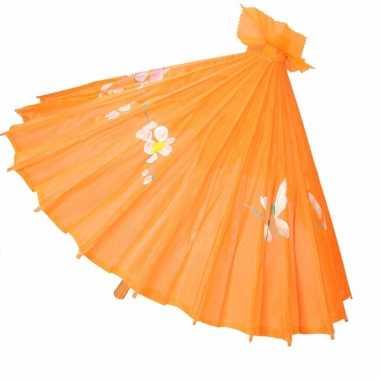 Carnavalskleding chinese paraplu oranje arnhem