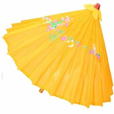 Carnavalskleding chinese paraplu oranje/geel arnhem
