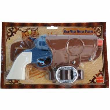 Carnavalskleding  Cowboy revolver blauw + holster Arnhem