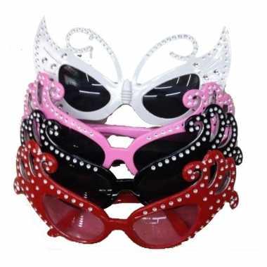 Carnavalskleding  Dame Edna bril glitter Arnhem