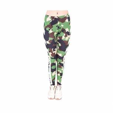 Carnavalskleding dames party legging camouflage print arnhem