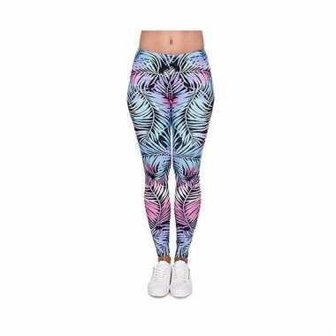 Carnavalskleding dames party legging hawaii bloemen print arnhem 10099186