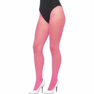 Roze Carnavalskleding Dames.Carnavalskleding Dames Visnet Panty Neon Roze Arnhem