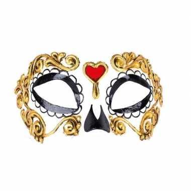 Carnavalskleding day of the dead bella morte oogmasker arnhem