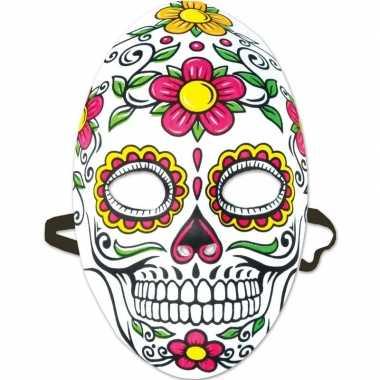 Carnavalskleding day of the dead sugarskull gezichtsmasker dames arnh