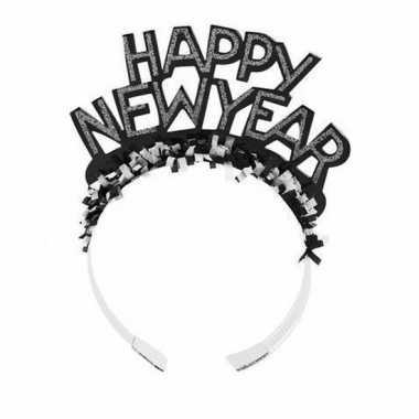 Carnavalskleding diadeem happy new year zwart volwassenen arnhem