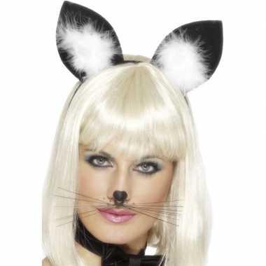 Carnavalskleding diadeem katten/poezen oren dames arnhem