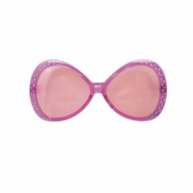 849d6ca41ff160 Carnavalskleding Diamant zonnebril roze Arnhem