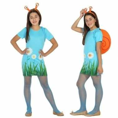 Carnavalskleding dieren verkleed jurk/jurkje slak/slakken meisjes arn