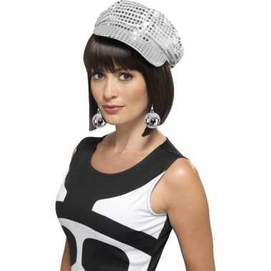 Carnavalskleding disco accessoires verkleedset disco petje oorbellen