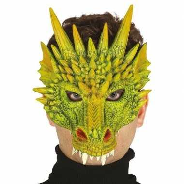 Carnavalskleding draak/draken horror masker foam arnhem