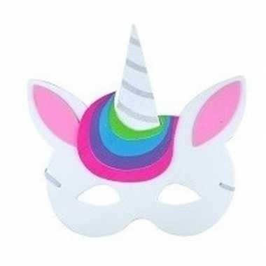 Carnavalskleding eenhoorn oogmasker foam kinderen type arnhem