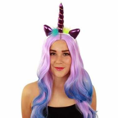 Carnavalskleding eenhoorn tiara paars dames arnhem