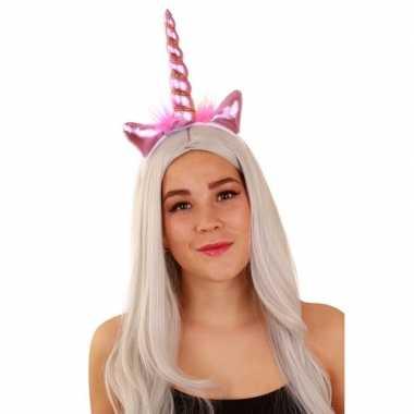 Carnavalskleding eenhoorn tiara roze dames arnhem