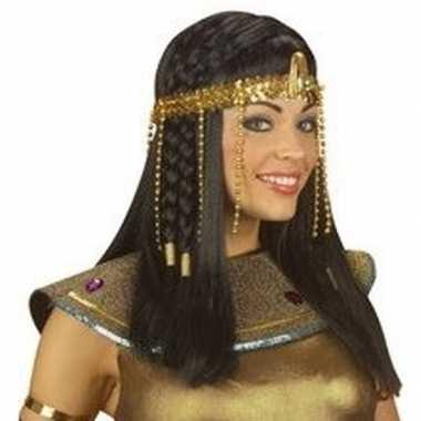 Carnavalskleding egyptische hoofdband gouden kralen arnhem