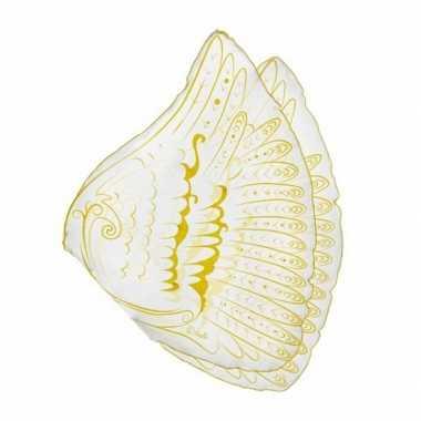Carnavalskleding  Engelen kinder vleugels wit/goud Arnhem