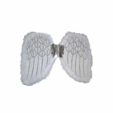 Carnavalskleding engelen verkleed vleugels wit arnhem