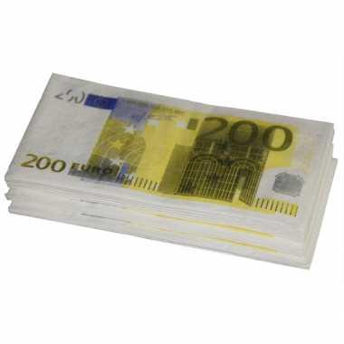 Carnavalskleding  Euro servetten stuks Arnhem