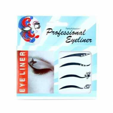 Carnavalskleding eyeliner stickers strass steentjes arnhem