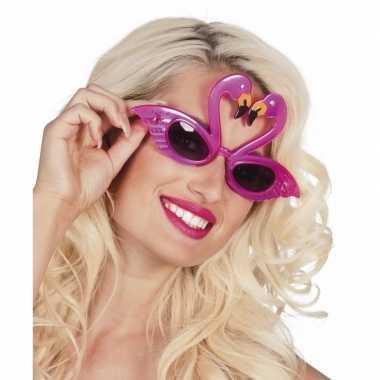Carnavalskleding flamingo feest zonnebril volwassenen arnhem