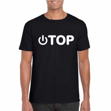 Carnavalskleding gay shirt power top zwart heren arnhem