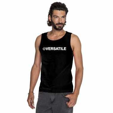 Carnavalskleding gay singlet shirt/ tanktop power versatile zwart her
