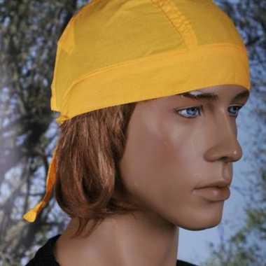 Carnavalskleding geel kleurige bandana uni arnhem