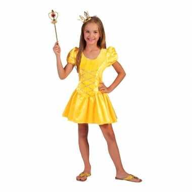 Carnavalskleding geel prinsessen verkleed jurkje meisjes arnhem