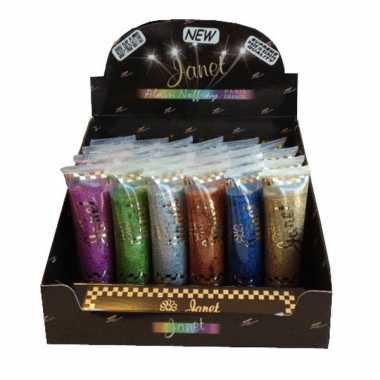 Carnavalskleding gekleurde body and hair glitters janet arnhem