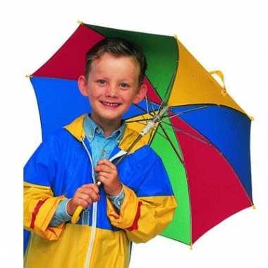 Carnavalskleding gekleurde kinder paraplu arnhem