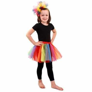 Carnavalskleding gekleurde regenboog petticoat meisjes arnhem
